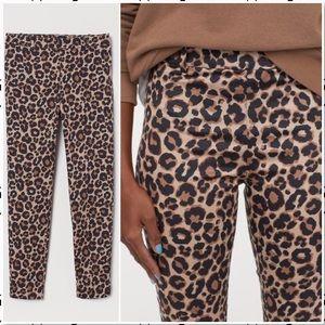 H&M Cheetah Cigarette Ankle Ponte Pant Trouser 10